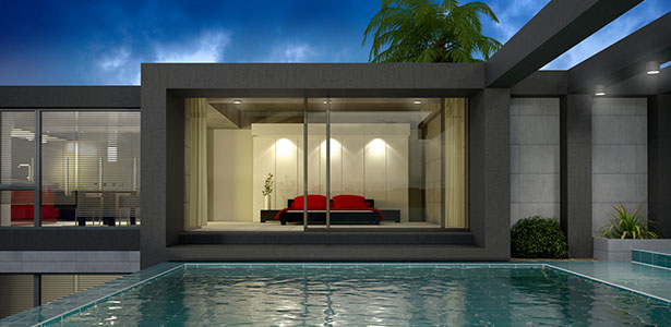prix construction d une villa contemporaine. Black Bedroom Furniture Sets. Home Design Ideas